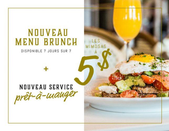 Nouveau menu brunch au Café du Théâtre